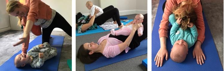 Mum and baby postnatal yoga locks heath whiteley