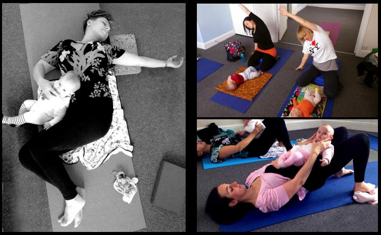 Mum and baby yoga and pilates post natal